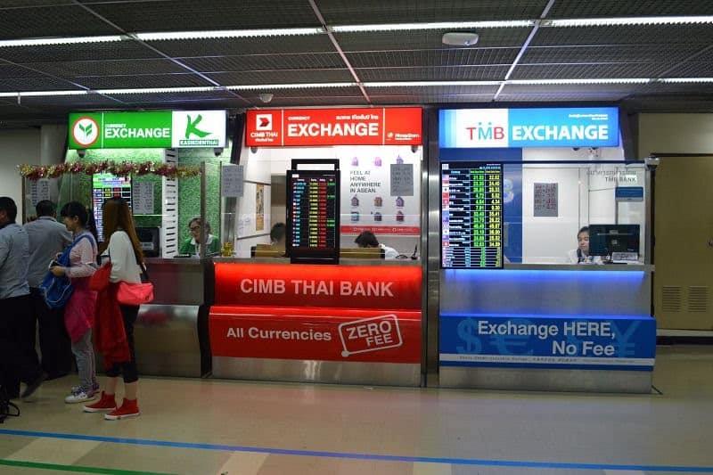 Nơi đổi tiền tại Thái lan
