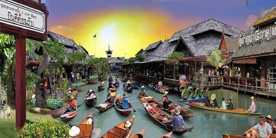 chợ nổi 4 miền ở pattaya
