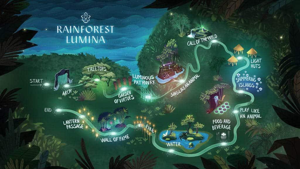 Bản đồ Khu rừng mưa nhiệt đới