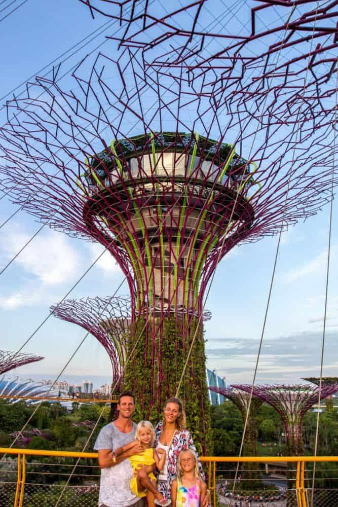 Gia đình du lịch Singapore