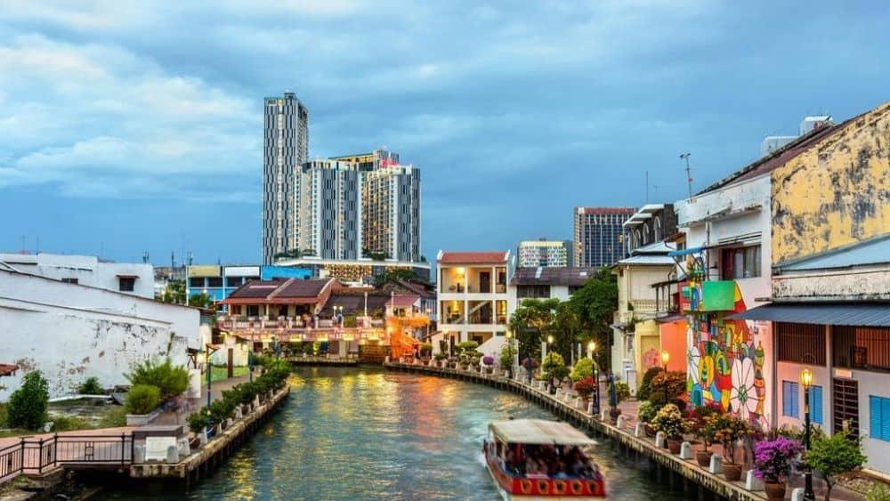 Di chuyển ở Malacca Malaysia