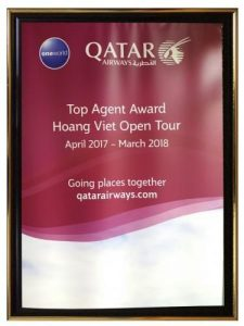 Top Agent Award Hoang Viet Open Tour