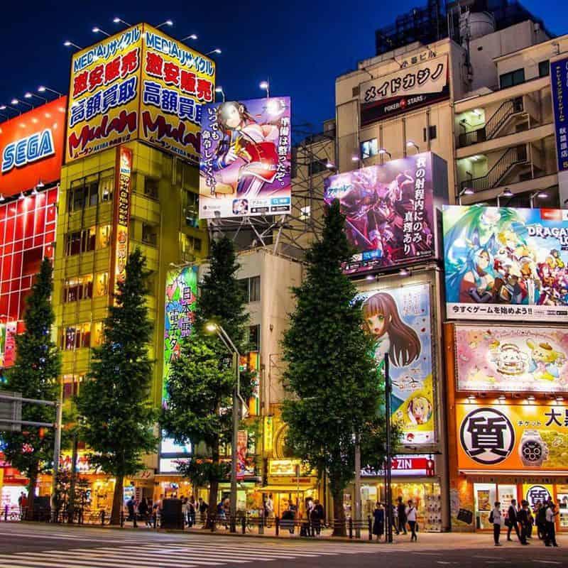 Khu mua sắm Akihabara nổi tiếng ở Nhật Bản