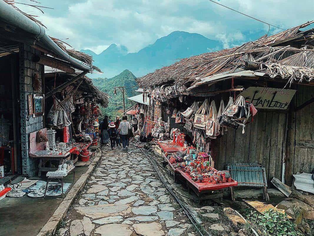 Chợ làng Sapa