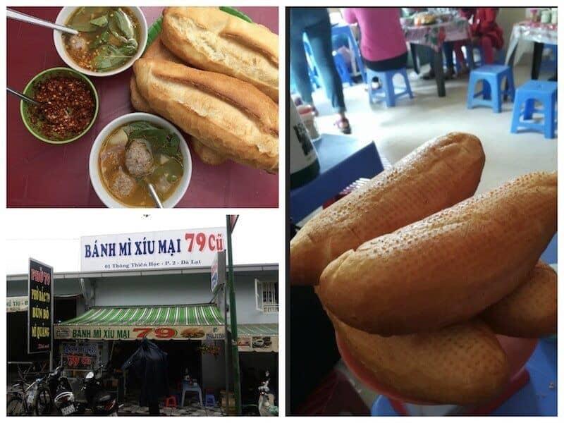 quán bánh mì xíu mại ngon ở Đà Lạt