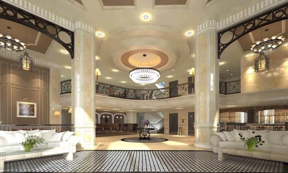 Sảnh chính của khách sạn Iris
