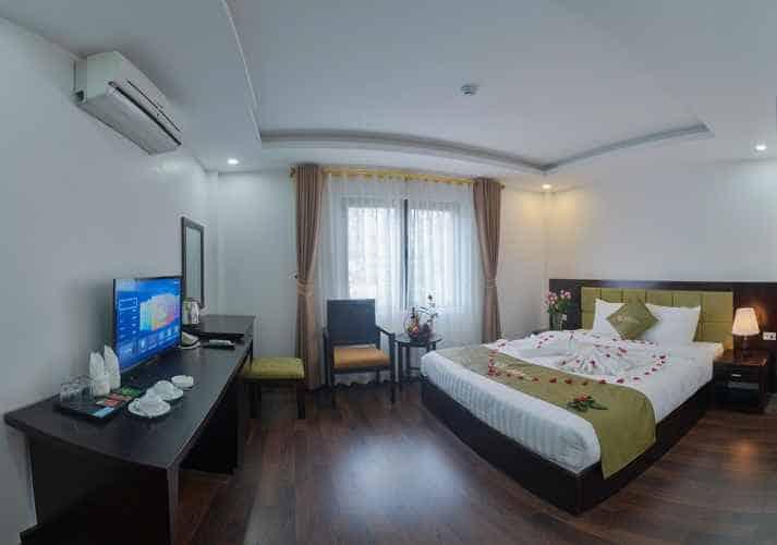 Không gian phòng khách sạn Mộc
