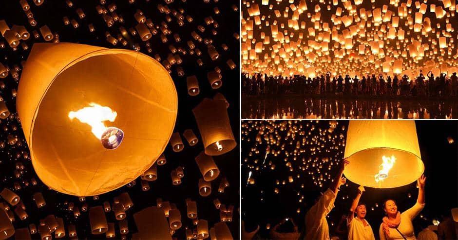 lễ hội đèn trời chiang mai
