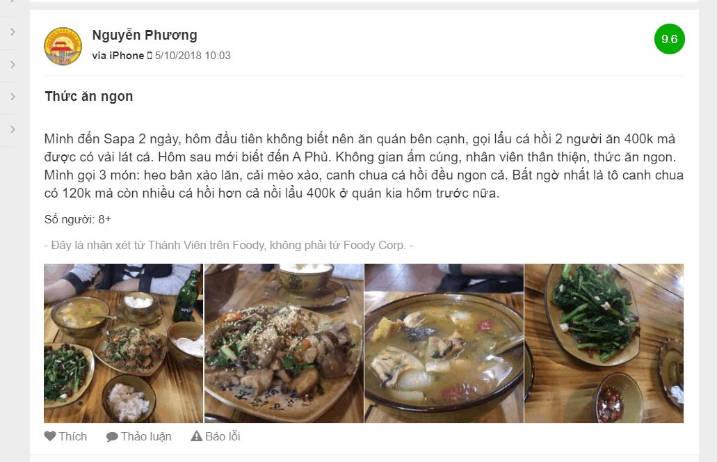 Review về nhà hàng