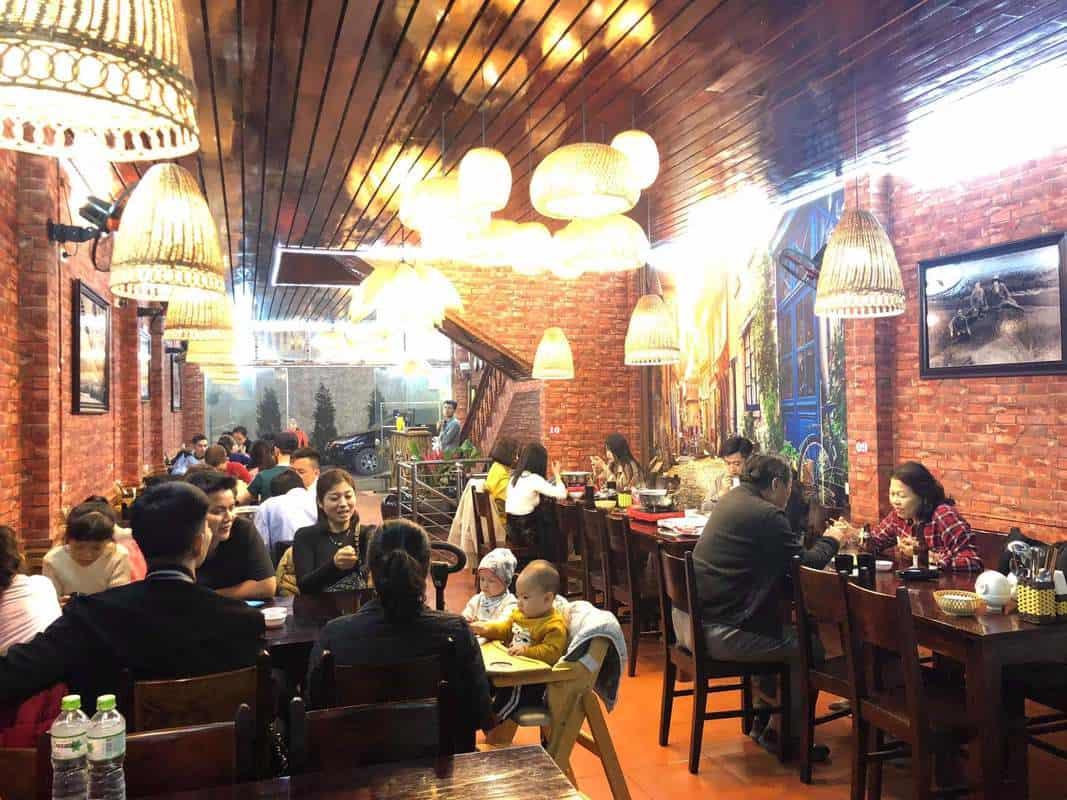 Không gian nhà hàng Minh Tâm