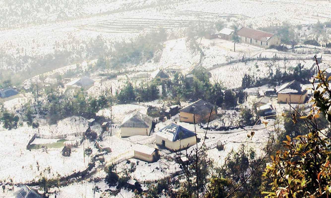 sapa tuyết rơi trắng xoá