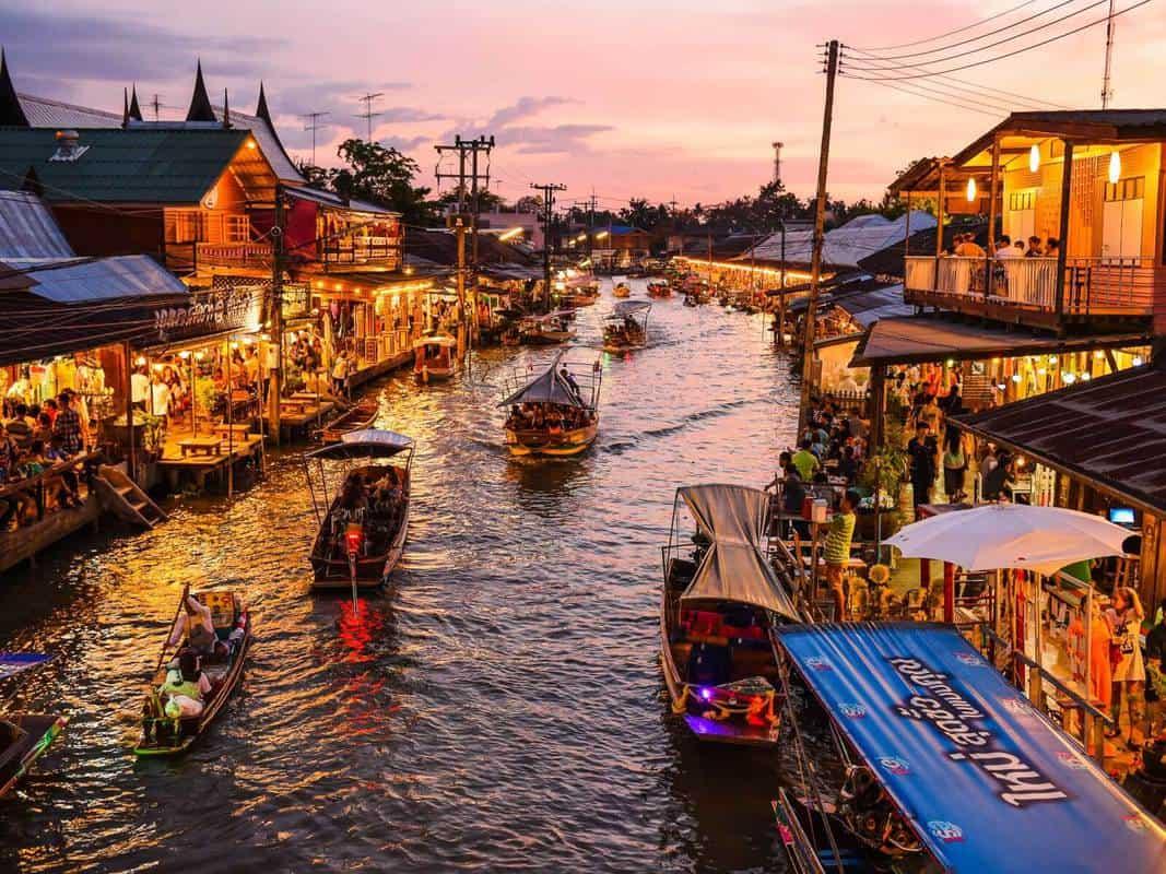 chợ nổi damnoen saduak bangkok