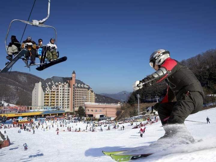 Seoul – Khu Trượt Tuyết Yangjipine – Công Viên Lotte World