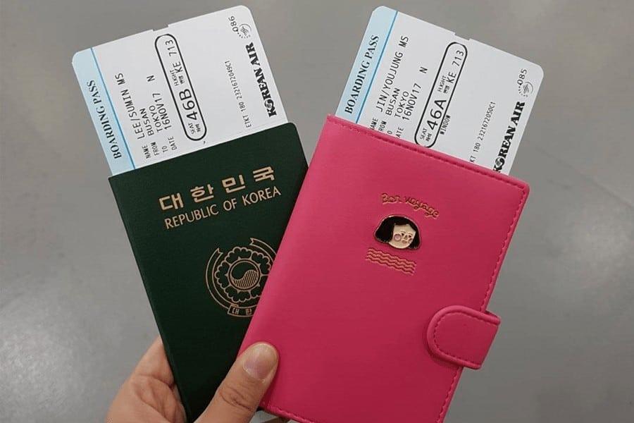 di chuyển đến Hàn Quốc bằng máy bay