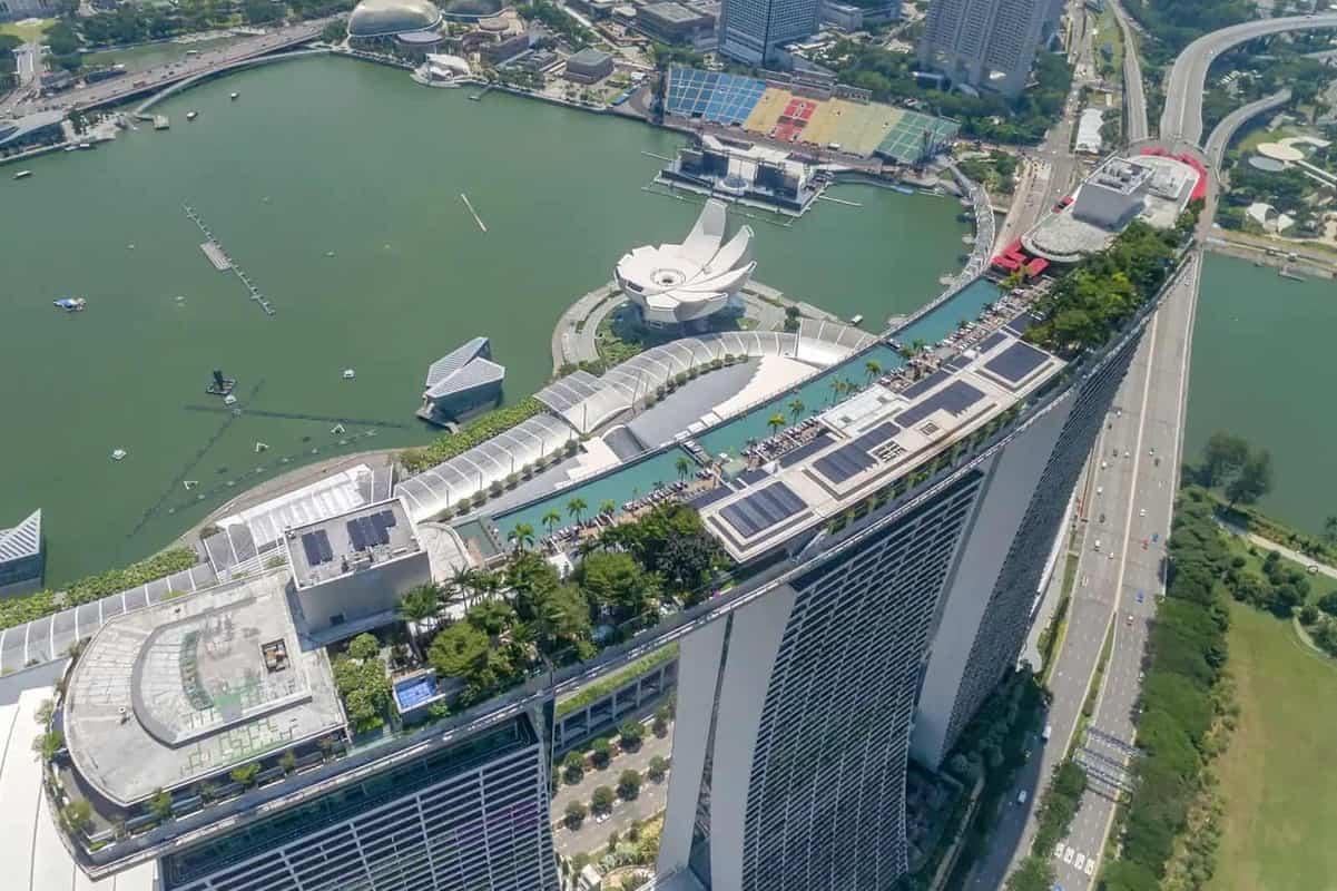 Marina Bay Sands Skypark kiến trúc