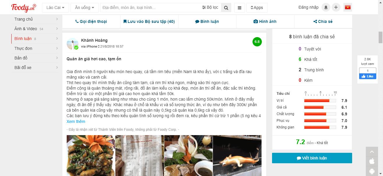 nhà hàng Sapa Hoa Đồng Tiền