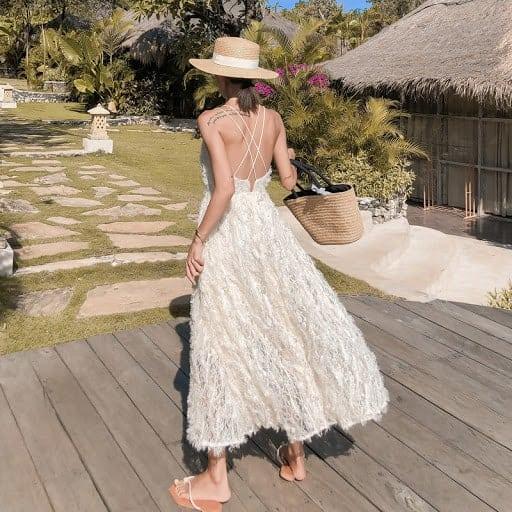 Váy dây đan gợi cảm