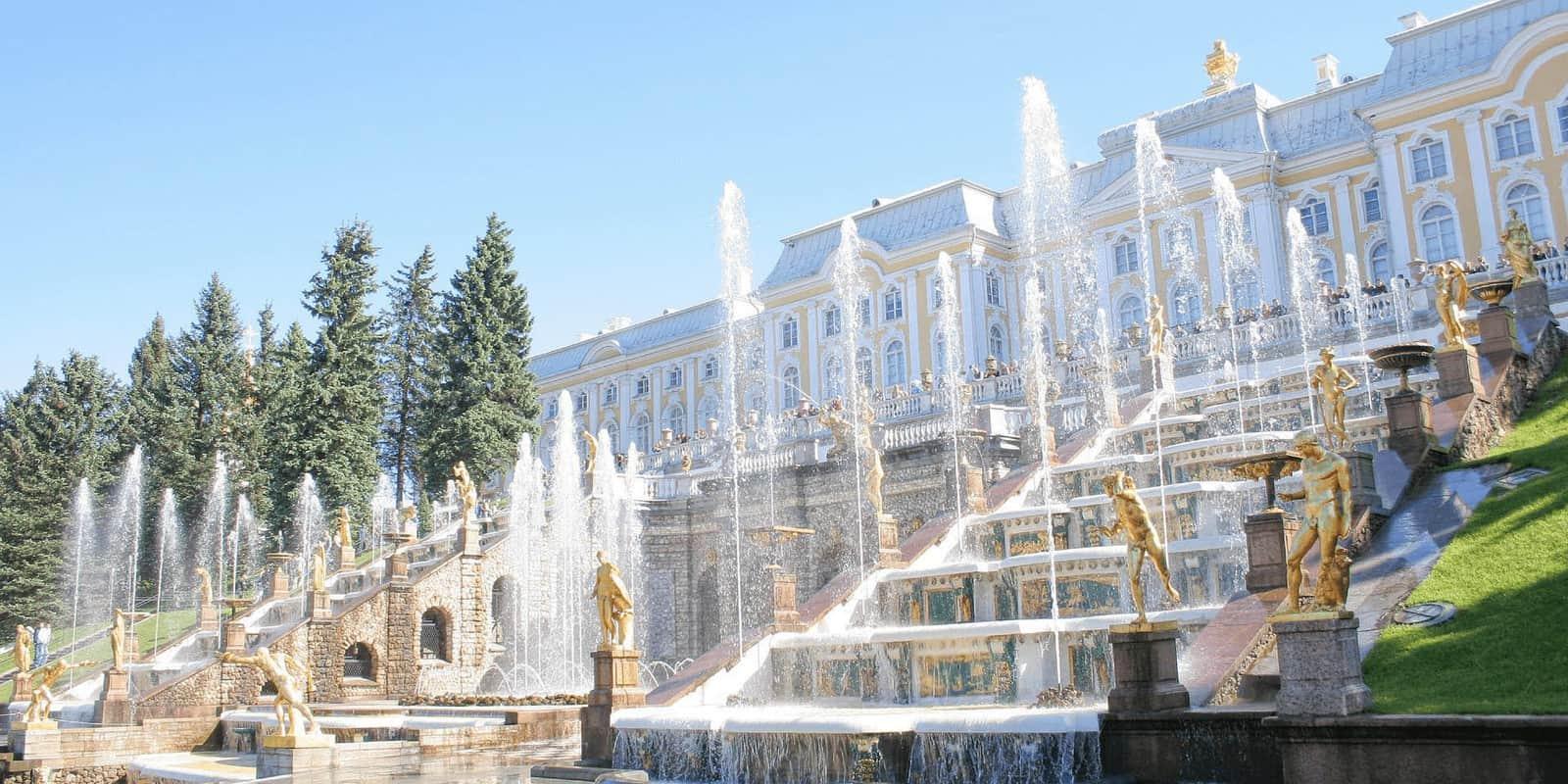 Đài phun nước ở cung điện Nga