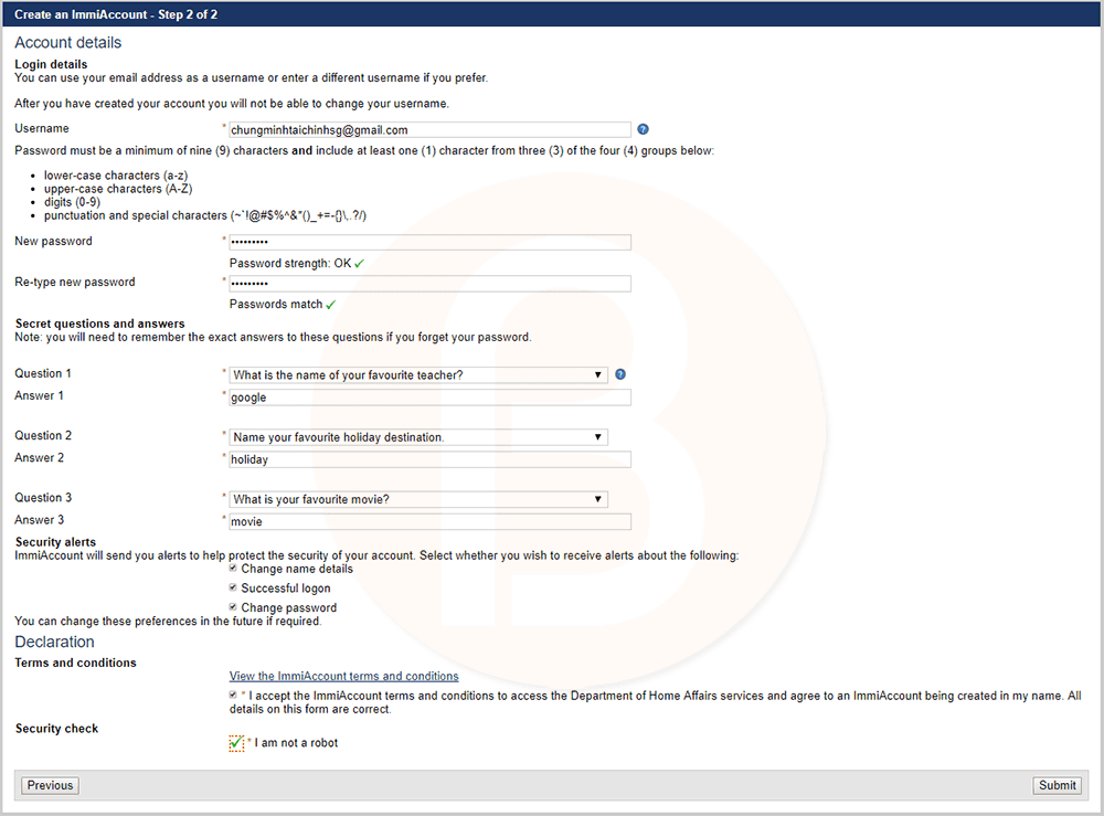 Điền thông tin và hoàn tất hồ sơ