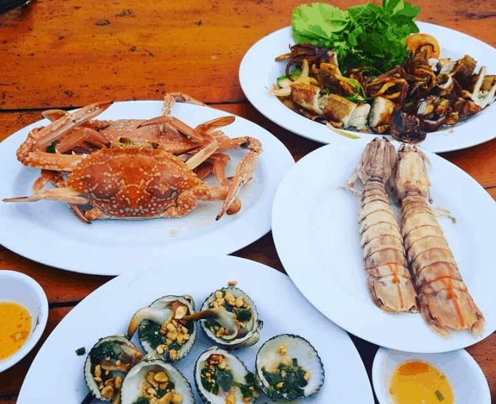 các món hải sản của nhà hàng