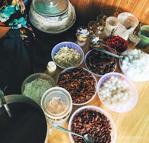 Chè xoa xoa hạt lựu Nguyễn Hoàng