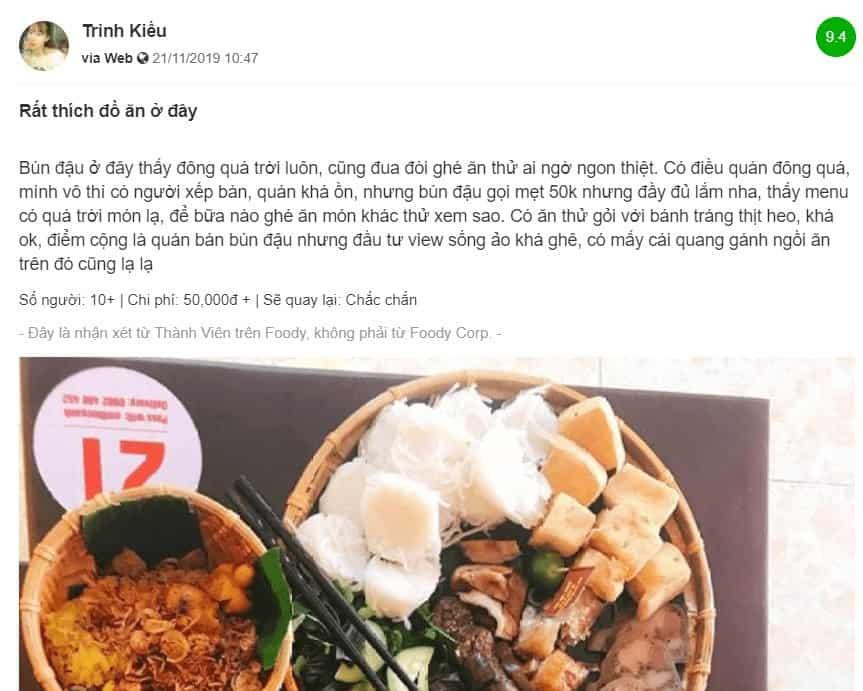 review ẩm thực gánh ở đà nẵng