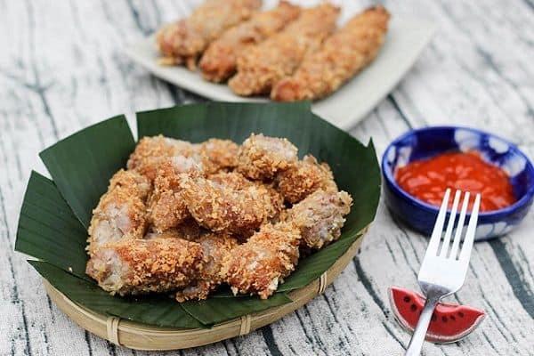 Ẩm thực Gánh thưởng thức Nem chua rán Đà Nẵng
