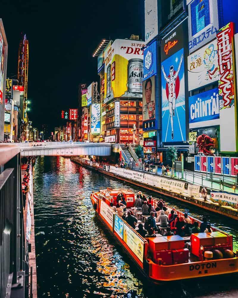 Phố Dotonbori ở Osaka - Ẩm thực ở Nhật Bản