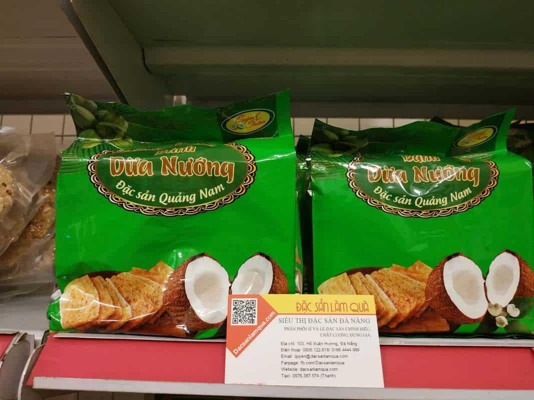 đặc sản dừa nướng đà nẵng