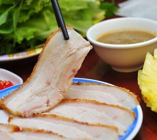 review bánh tráng cuốn thịt heo chợ cồn đà nẵng
