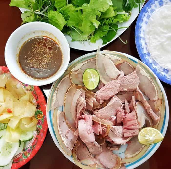 ăn Bê thui ở quán bánh xèo bà Ngọc Đà Nẵng