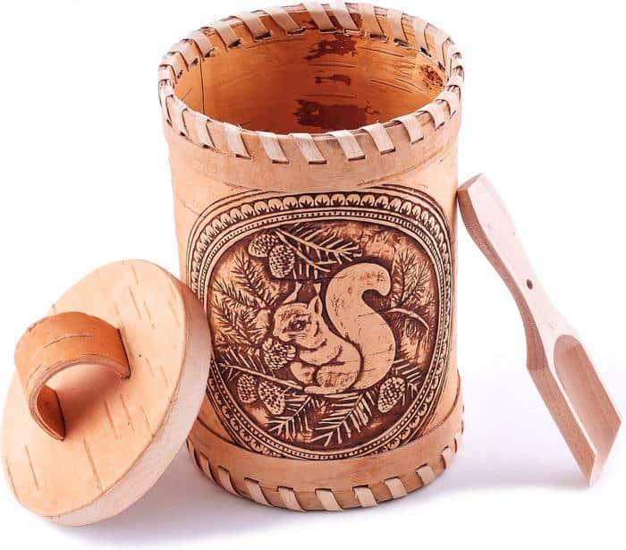 Đồ thủ công được làm từ vỏ cây Bạch Dương