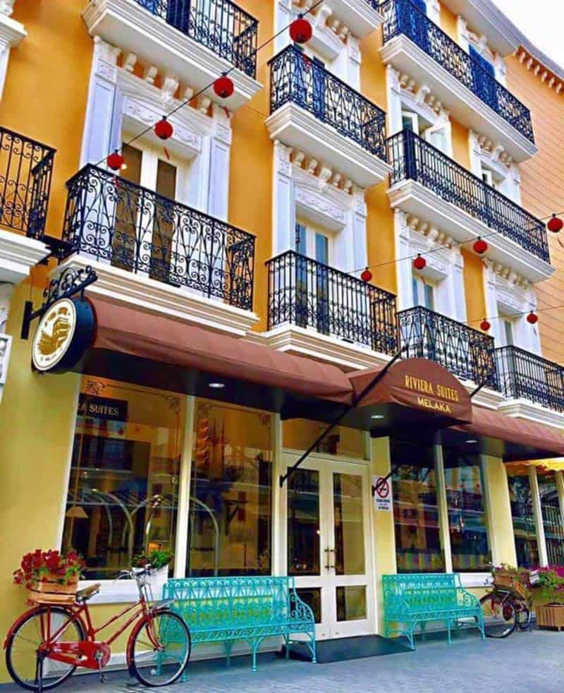 Một góc ban công Malaysia Riviera Suites Melaka