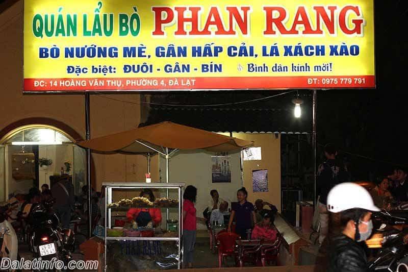 Lẩu Phan Rang Đà Lạt