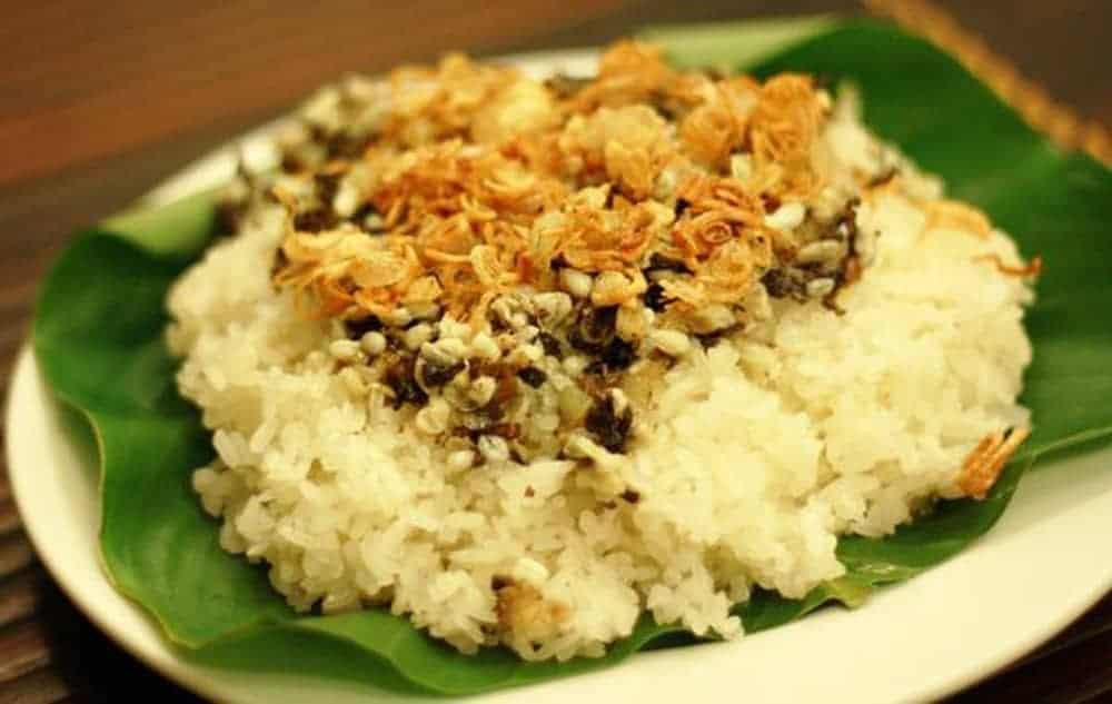 xôi trứng kiến món ngon Ninh Bình