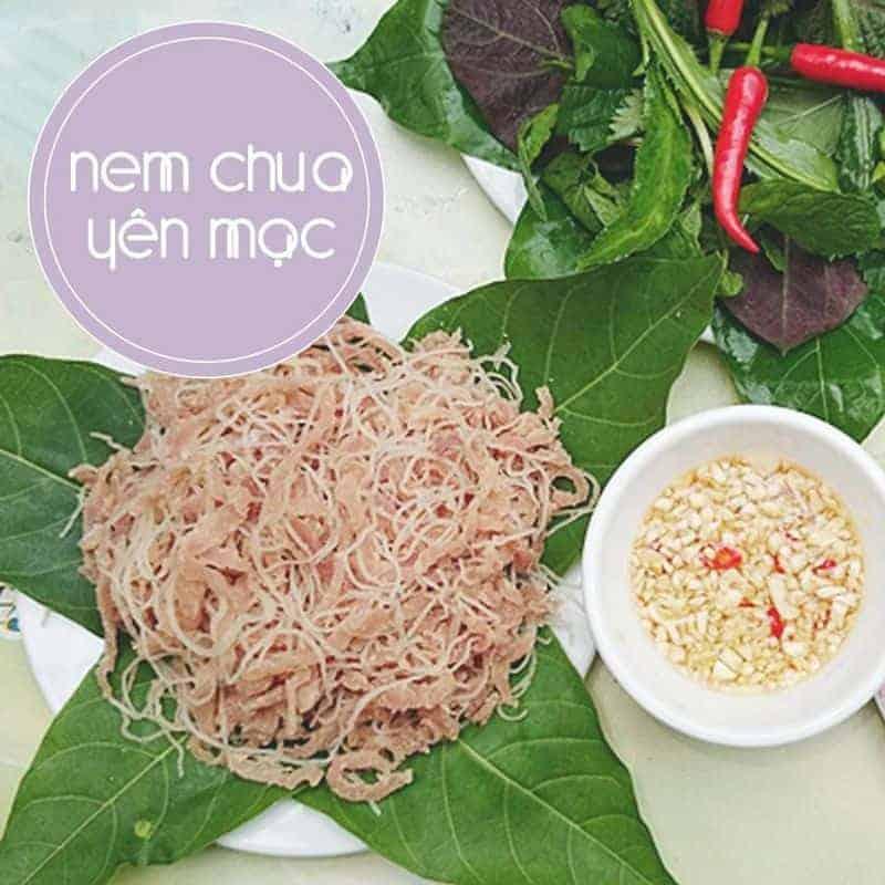 Nem chua Yên Mạc ở Ninh Bình