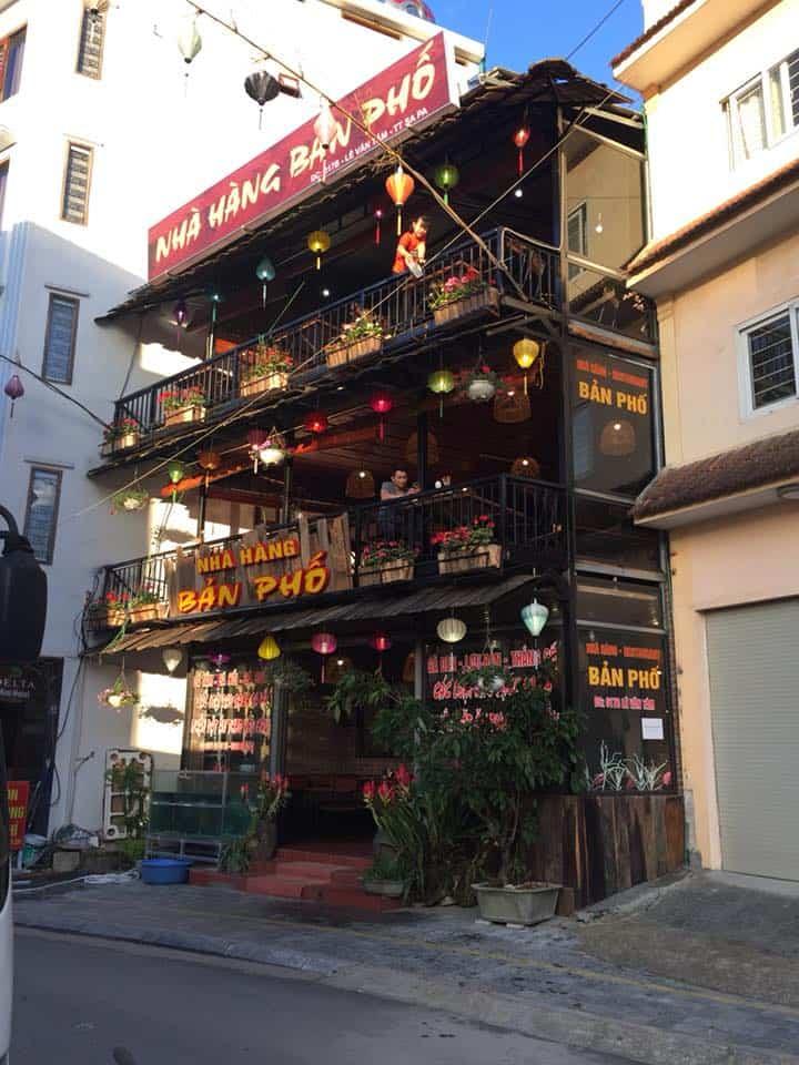 nhà hàng bản phố Sapa