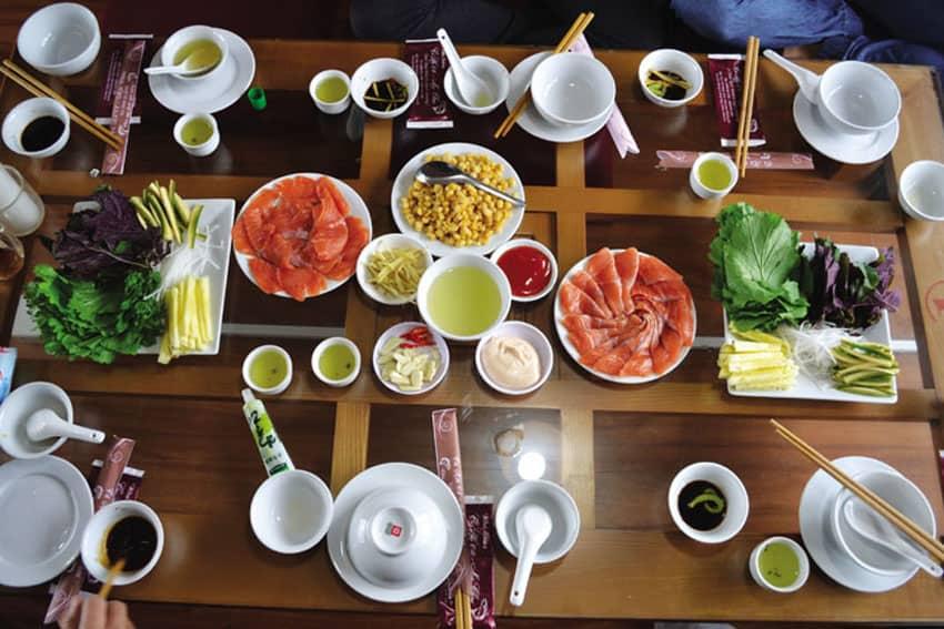 đặc trưng nhà hàng cá hồi 64 Mộc Châu