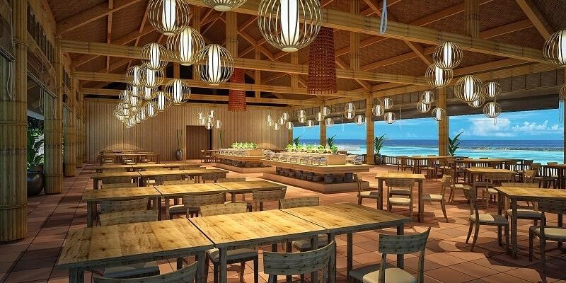 Không gian nhà hàng Hương Biển Phú Quốc
