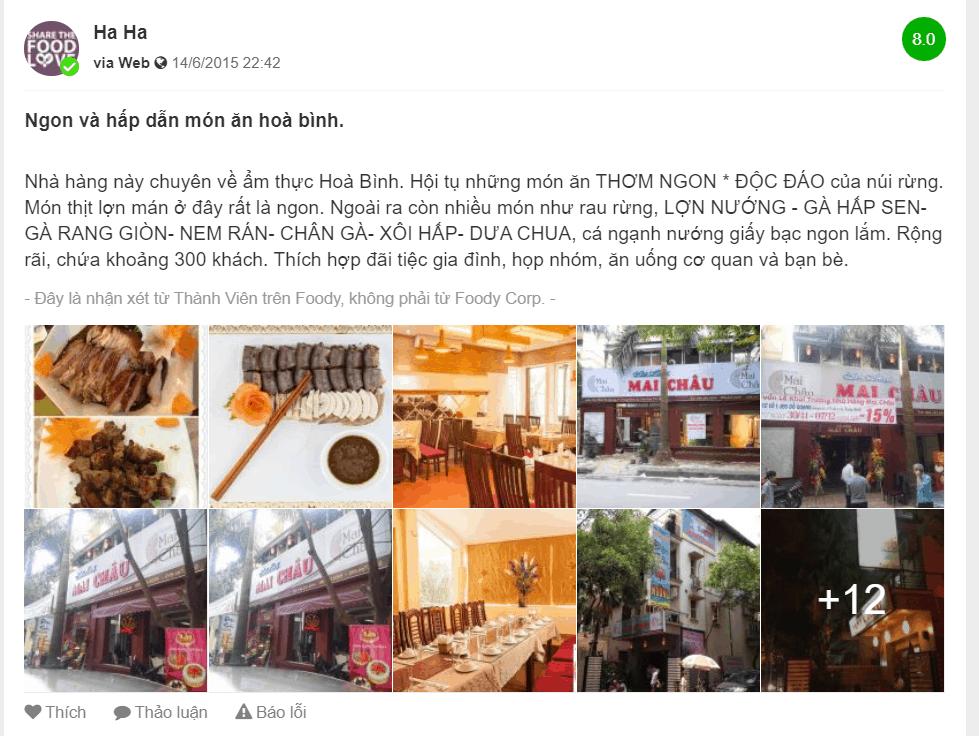 nhà hàng mai châu phố đỗ quang