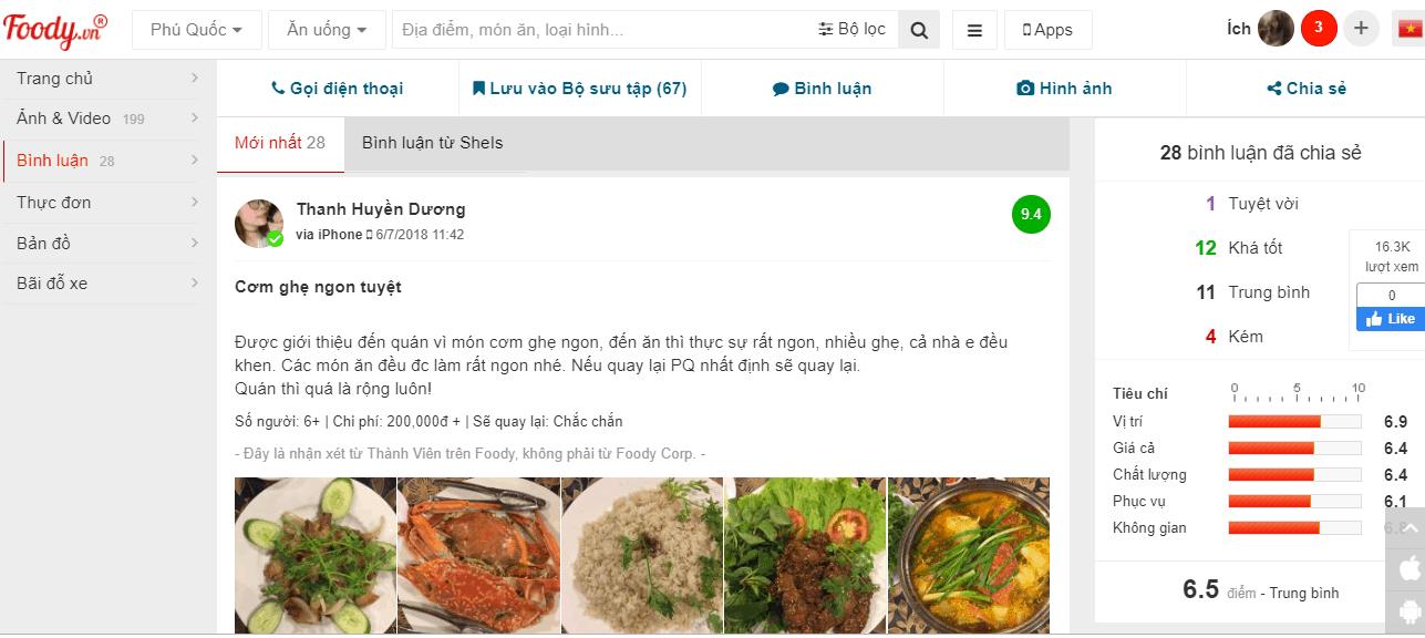 review nhà hàng trùng dương phú quốc
