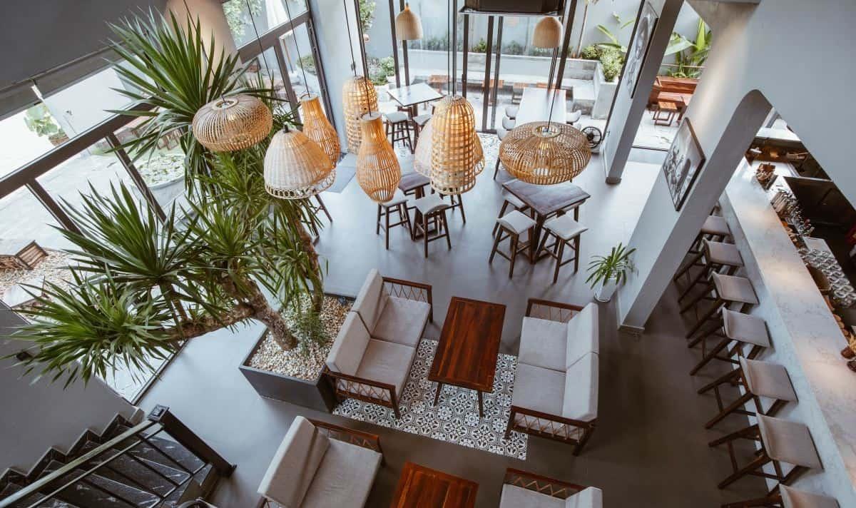 Không gian xanh của nhà hàng
