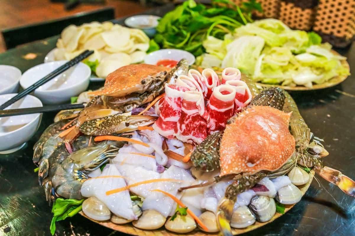 Hải sản đa dạng ở Sông Xanh Phú Quốc