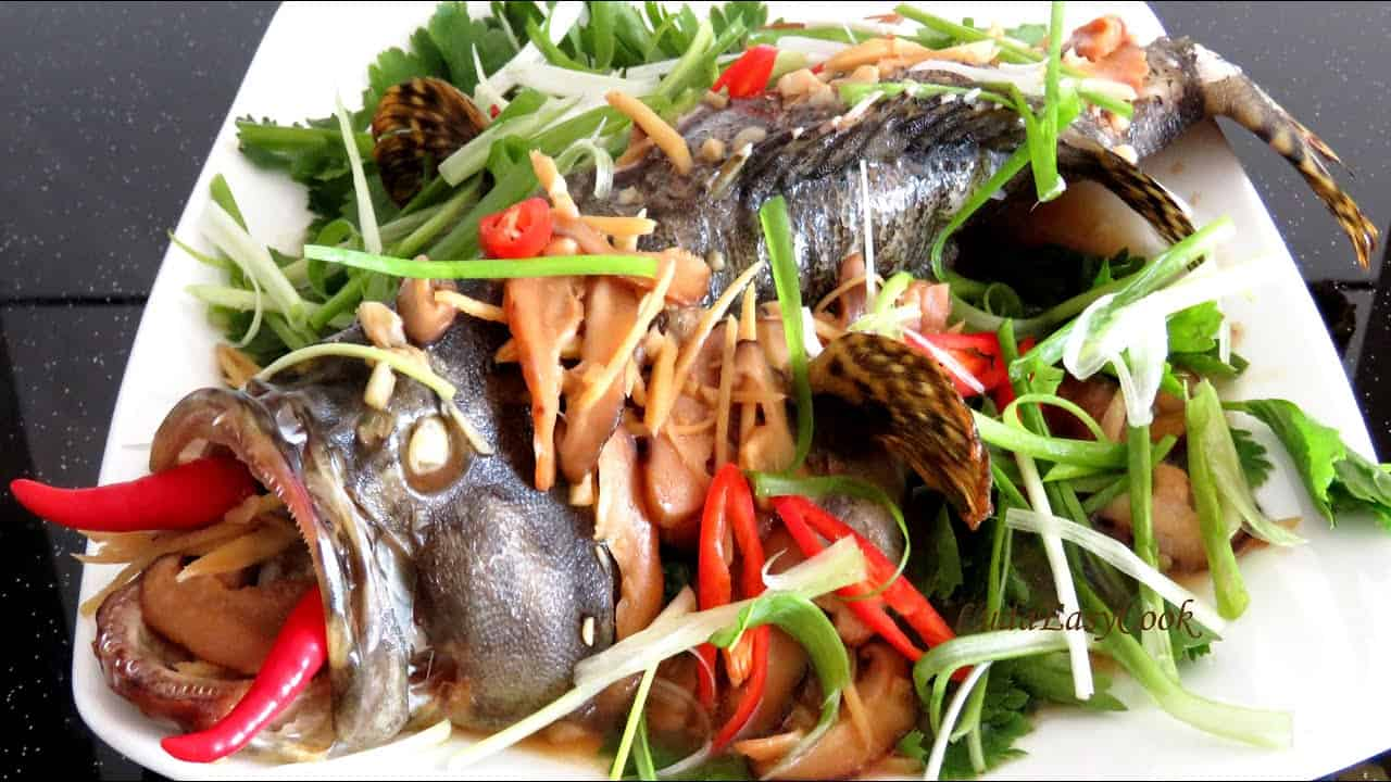 Cá mú hấp - món ngon của Sông Xanh Phú Quốc