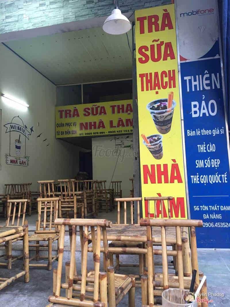 Không gian quán trà sữa nhà làm Tôn Thất Đạm