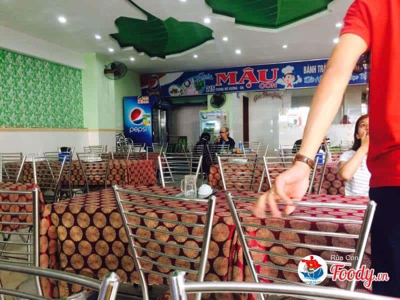 bánh tráng cuốn thịt heo quán bà Mậu tại Đà Nẵng