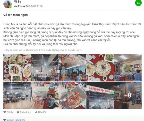 Thực khách nói gì về quán gà lên mâm Hùng My Đà Nẵng