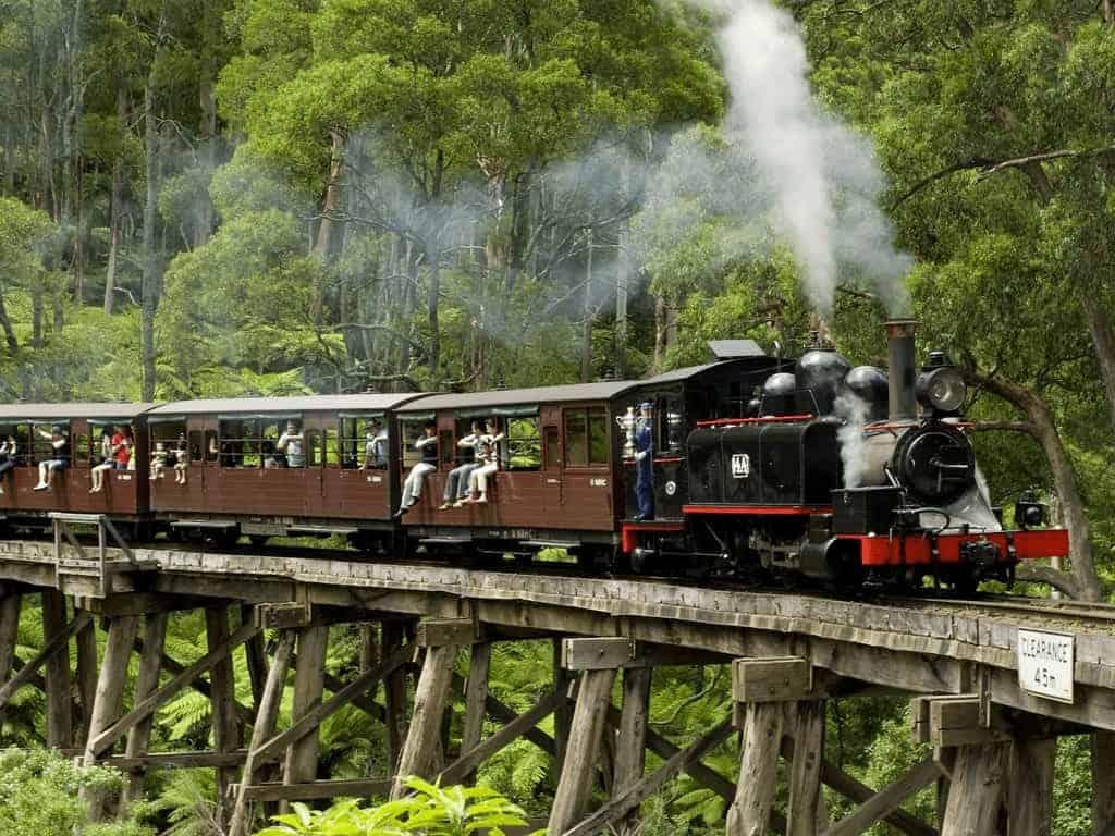 Tàu lửa hơi nước ở Úc
