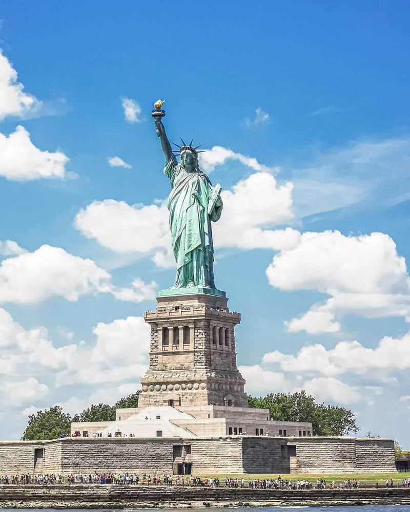 tham quan tượng nữ thần tự do ở Mỹ