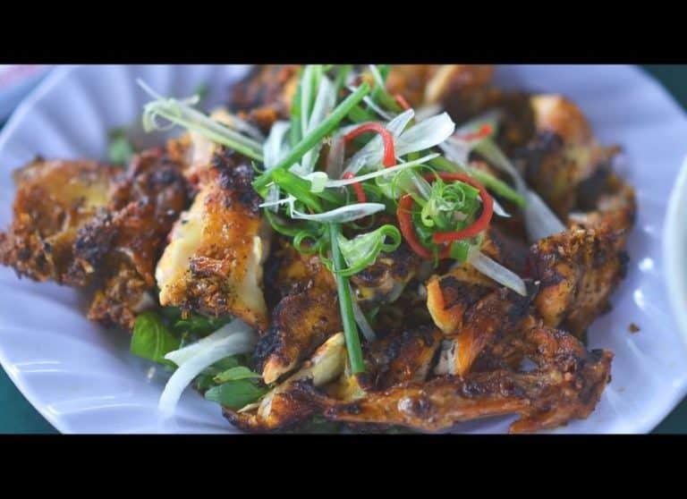 Thịt nướng cuộn lá bắp
